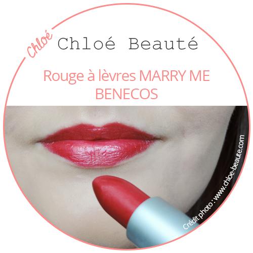 Chloé Beauté rouge à lèvres marry me de Benecos